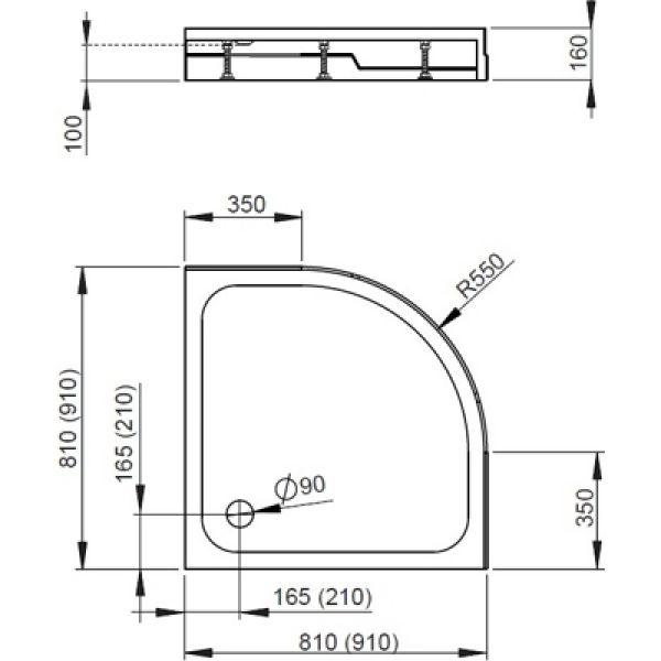 Душевой поддон Radaway Rodos A800 Compact 80x80