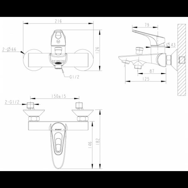 Промонабор Bravat 3 в 1 DROP-D F00312