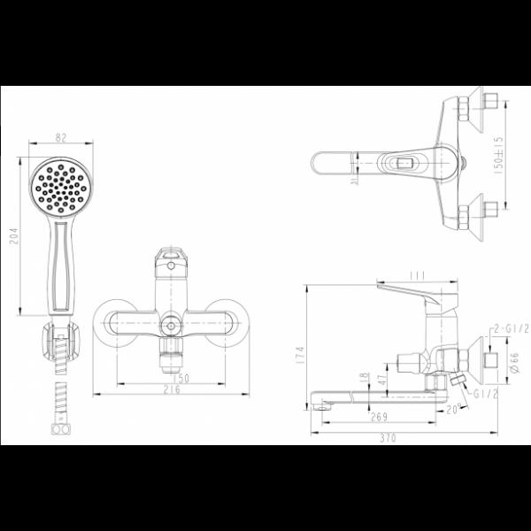 Промонабор Bravat 2 в 1 ECO-K F00414C