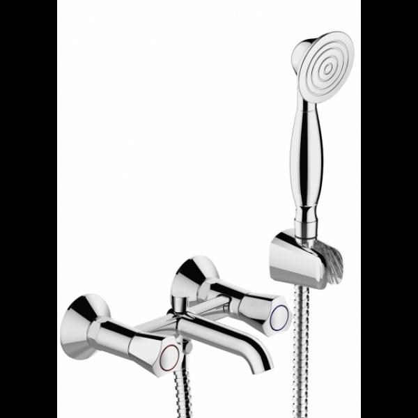 Смеситель для ванны с коротким изливом Bravat DUO F6133186CP-B-RUS