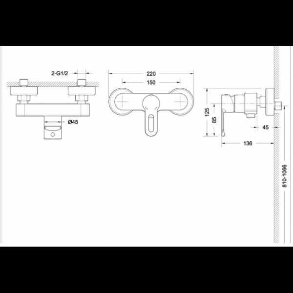Смеситель для душа Bravat STREAM-D F937163C-01