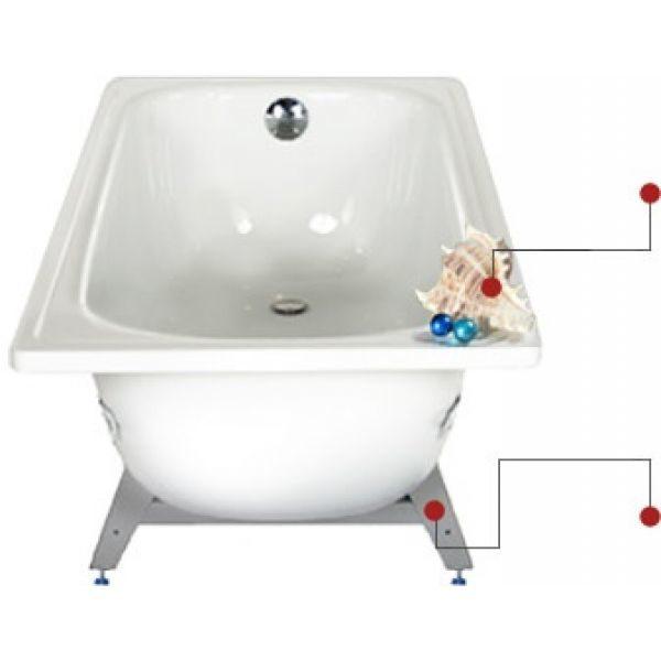 Стальная ванна VIZ Antika 170x70 (сифон)