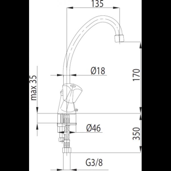 Смеситель для умывальника Armatura Standart 302-315-00