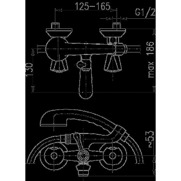 Смеситель для ванны Armatura Ceramic 334-115-00