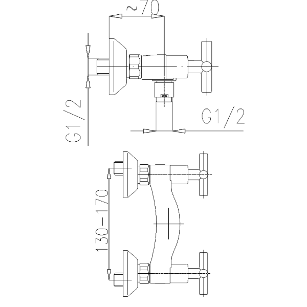 Смеситель для душа Armatura Symetric 346-010-00