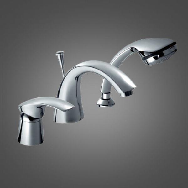 Смеситель на борт ванны на 3 отверстия Armatura Ametyst 405-214-00