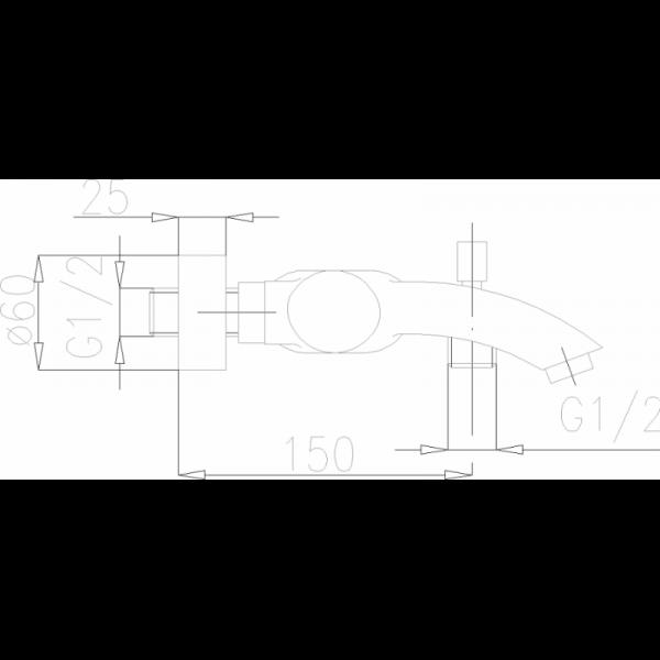 Смеситель для ванны Armatura Diament 4104-010-00