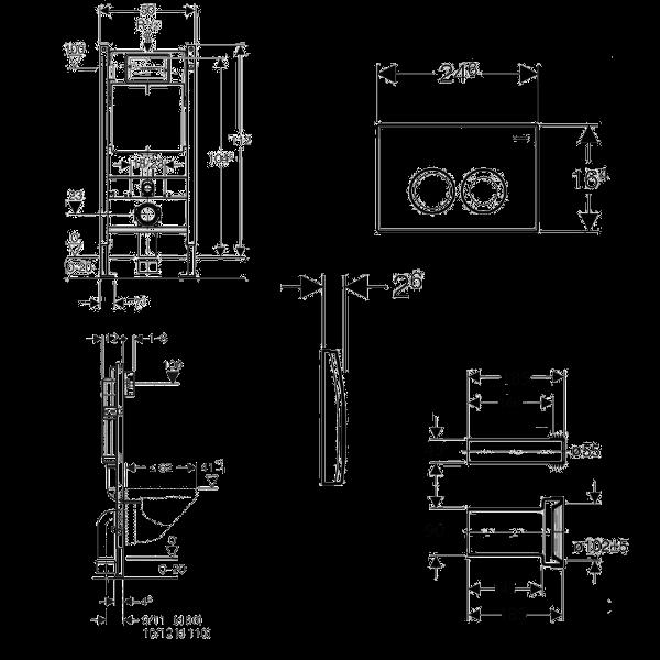 Комплект инсталляции Geberit Duofix Plattenbau + панель смыва Delta 21 + унитаз Kolo Idol