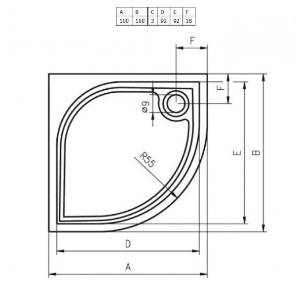 Душевой поддон Riho Kolping DB14005 90x90