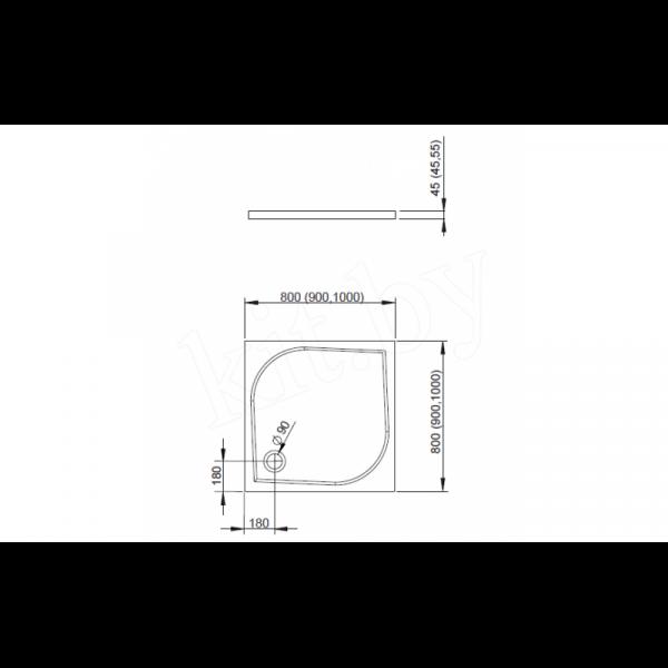 Душевой поддон Radaway Delos C800 80x80
