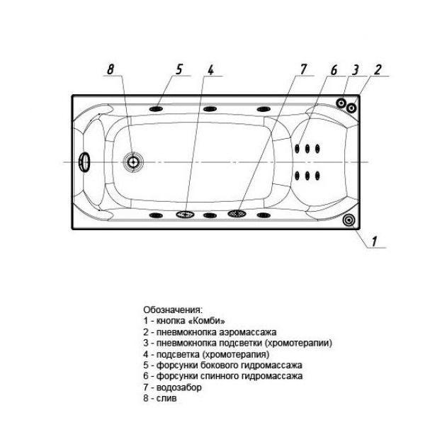 Акриловая ванна Aquatek Альфа 150х70 (сифон)