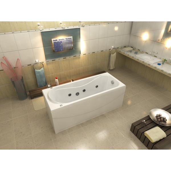 Гидромассажная ванна BAS Атланта 170x70 (сифон автомат)