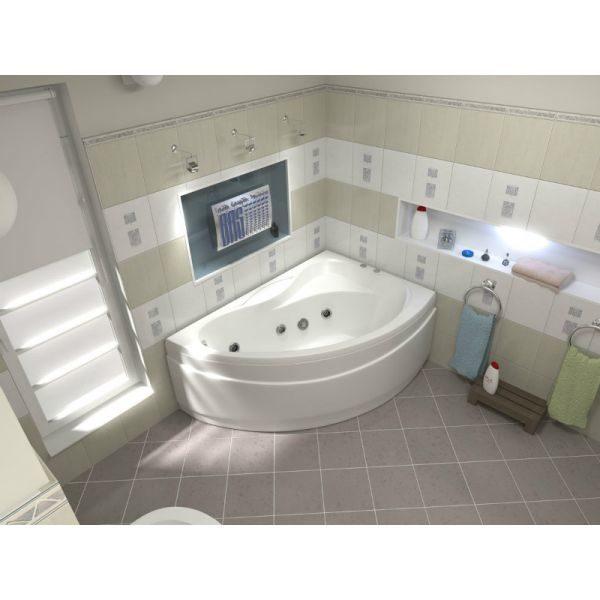 Гидромассажная ванна BAS Алегра 150x90 (сифон автомат)