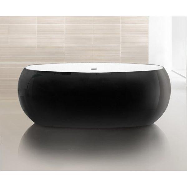 Отдельностоящая ванна BelBagno BB18NERO/BIA (сифон автомат)