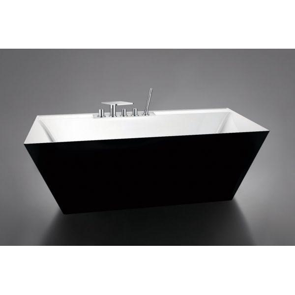 Отдельностоящая ванна BelBagno BB19-NERO/BIA (сифон автомат)