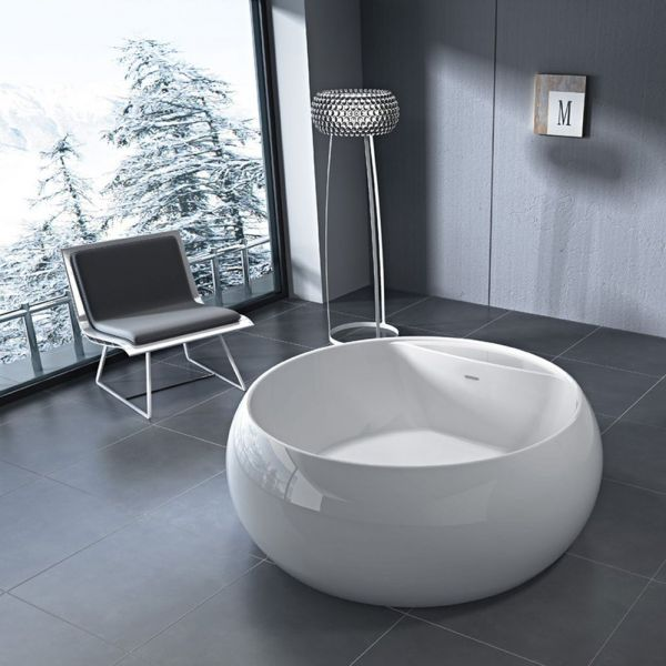 Отдельностоящая ванна BelBagno BB30-1550 (сифон автомат)