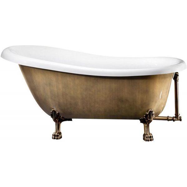 Отдельностоящая ванна BelBagno BB04-BRN/BIA 170x80.5 (сифон автомат)