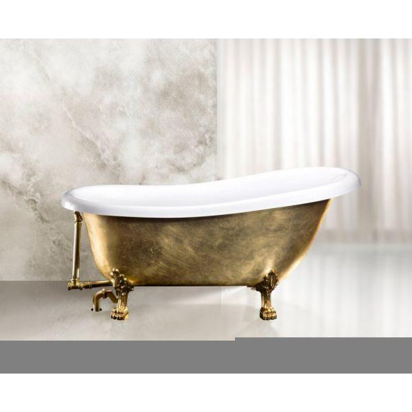 Отдельностоящая ванна BelBagno BB04-ORO/BIA 170x80.5 (сифон автомат)