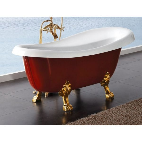 Отдельностоящая ванна BelBagno BB04-ROS 170x80.5 (сифон автомат)