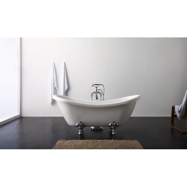 Отдельностоящая ванна BelBagno BB05 182x75 (сифон автомат)