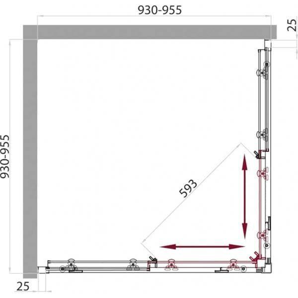 Душевой уголок Belbagno SELA A-2 95х95