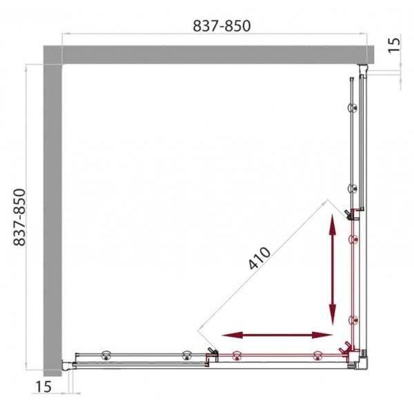 Душевой уголок Belbagno UNO A-2 85х85