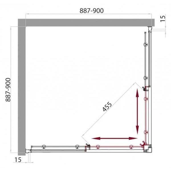 Душевой уголок Belbagno UNO A-2 90х90
