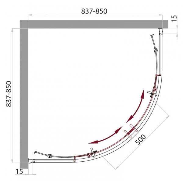 Душевой уголок Belbagno UNO R-2 85х85