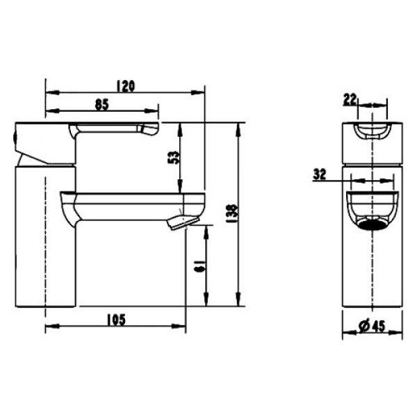 Смеситель для умывальника Bravat Stream F13783C-2