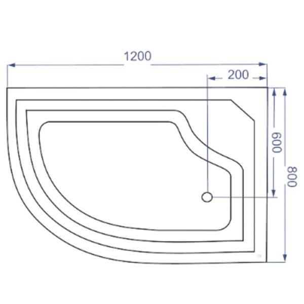 Душевая кабина Coliseum Simple T-120 120x80