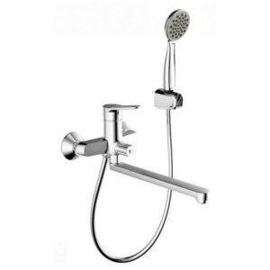 Смеситель для ванны с длинным изливом Bravat Eco-K F6111147C-LB