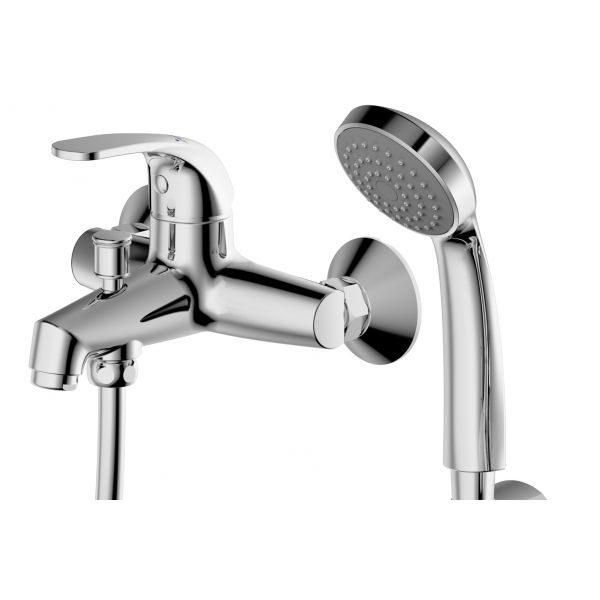 Смеситель для ванны Bravat Fit F6135188CP-B-RUS с душевым комплектом