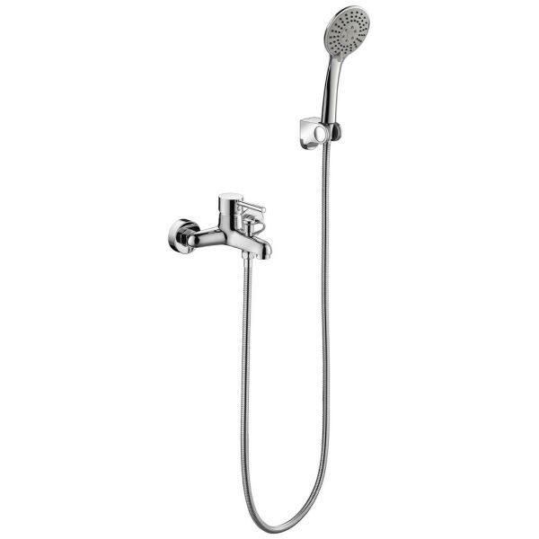 Смеситель для ванны с коротким изливом Bravat Slim F6332366CP-01-RUS