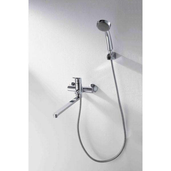 Смеситель для ванны с длинным изливом Bravat Drop-D F648162C-LB-RU