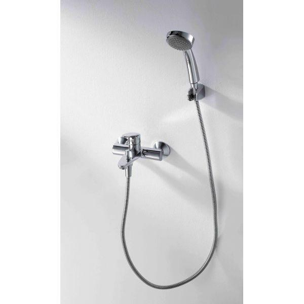 Смеситель для ванны с коротким изливом Bravat Drop F64898C-B