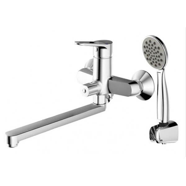 Смеситель для ванны с длинным изливом Bravat Eco-D F693158C-LB