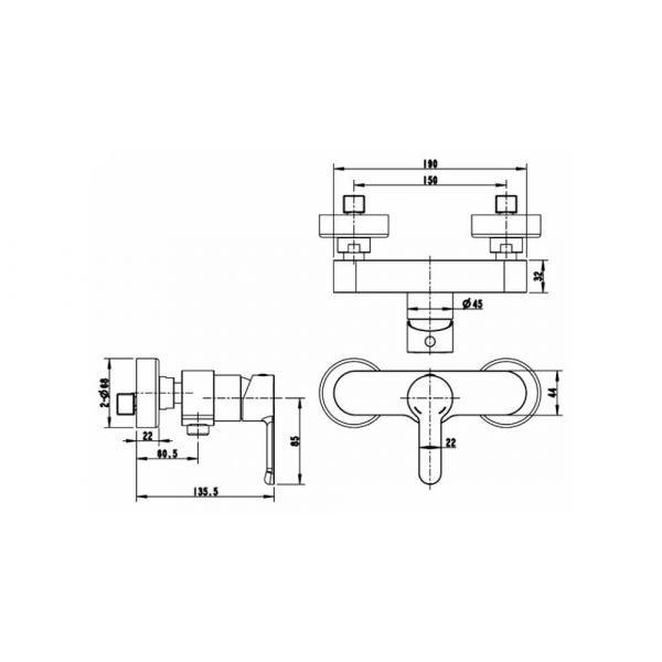 Смеситель для душа Bravat STREAM F93783C-01A