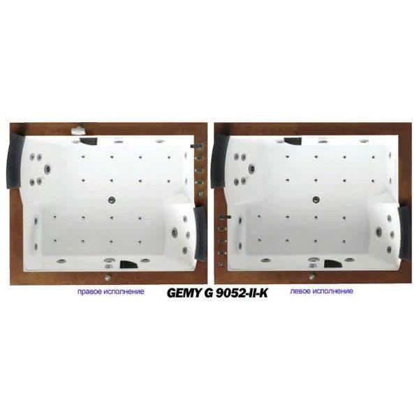 Гидромассажная ванна Gemy G9052-II K (сифон автомат)