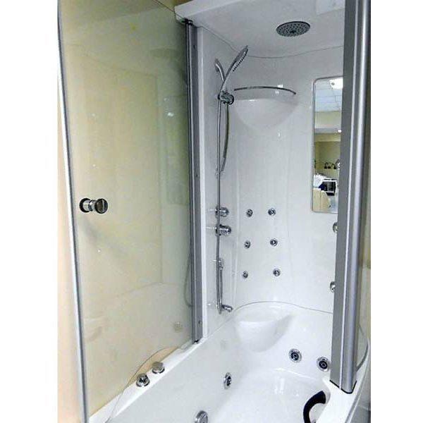 Гидромассажная ванна Gemy G8040 B с душевой кабиной (сифон автомат)