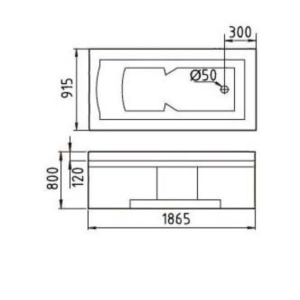Гидромассажная ванна Gemy G9057-II K (сифон автомат)
