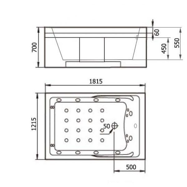 Гидромассажная ванна Gemy G9061 New K (сифон автомат)