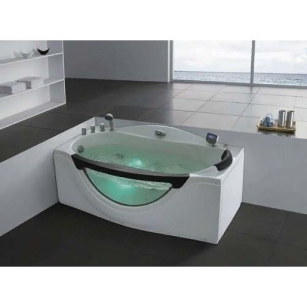 Гидромассажная ванна Gemy G9072 B (сифон автомат)