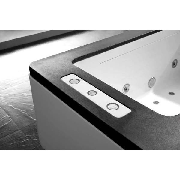 Гидромассажная ванна Gemy G9253 Black (сифон автомат)