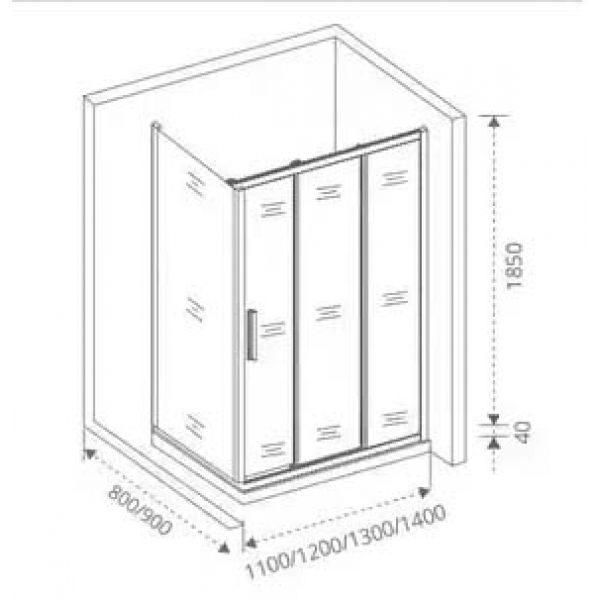 Душевой уголок Good Door Orion WTW 140х80