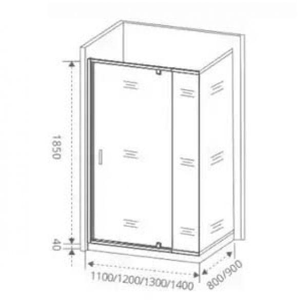 Душевой уголок Good Door Orion WTW-PD 140х80