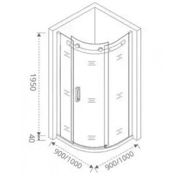 Душевой уголок Good Door Galaxy R 100х100