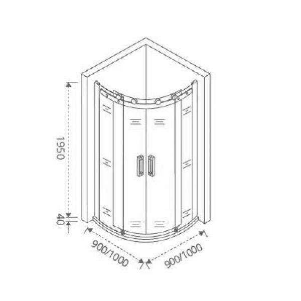 Душевой уголок Good Door Galaxy R-TD-100-C-CH 100х100