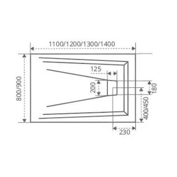 Душевой уголок Good Door Galaxy WTW 140х90