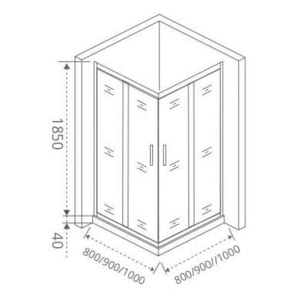 Душевой уголок Good Door Infinity CR-90 90х90