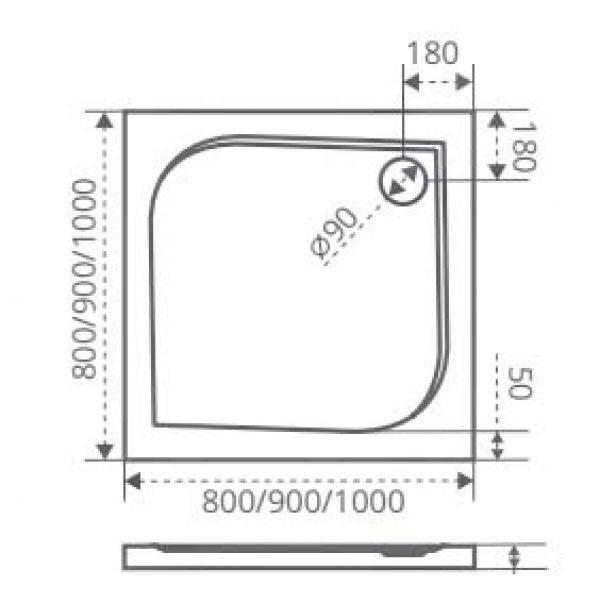 Душевой уголок Good Door Infinity CR-80 80х80